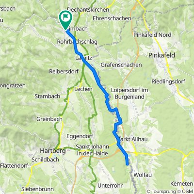 Untere Hauptstraße 315, Rohrbach an der Lafnitz nach Untere Hauptstraße 274, Rohrbach an der Lafnitz