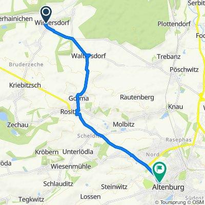 Reichenbachgasse 2, Meuselwitz nach Zeitzer Straße 14, Altenburg