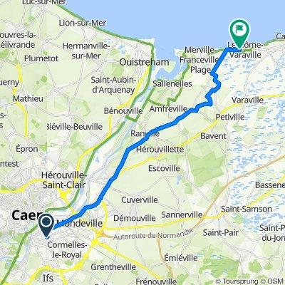 De 4 Avenue Jeanne d'Arc, Caen à 6 Rue Bracke Morel, Varaville