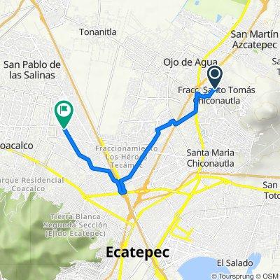 De Antonio Díaz Soto y Gama 1314, Fraccionamiento Social Progresivo Santo Tomas Chiconautla a Felipe Carrillo 3, Ecatepec de Morelos