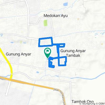 Jalan Wiguna Selatan Indah I 19, Kecamatan Gunung Anyar to Jalan Wiguna Selatan Indah I 12, Kecamatan Gunung Anyar