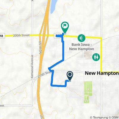 West Hamilton Street 633, New Hampton to West Milwaukee Street 825, New Hampton