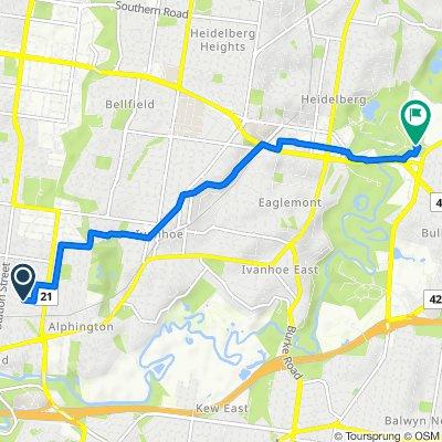 27 Gordon Street, Fairfield to 7 Templestowe Road, Bulleen