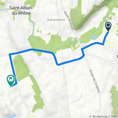 Itinéraire à partir de Route de Sablons, Clonas-sur-Varèze