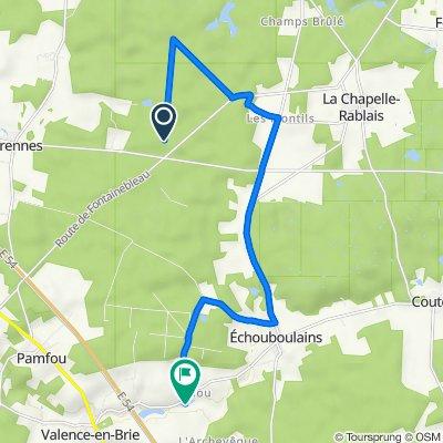 Itinéraire vers 11 Rue du Moulin, Echouboulains