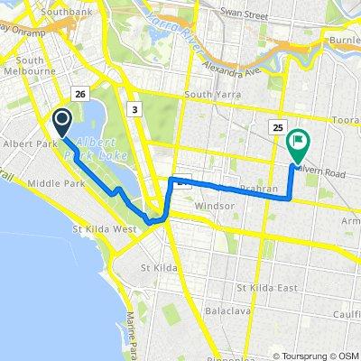23 Aughtie Drive, Albert Park to 637 Malvern Road, Toorak