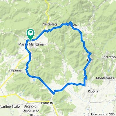 7 - Bike Road - Blue - Ghirlanda - Prata - Tatti - Lago Accesa - Ghirlanda