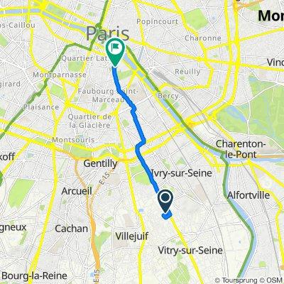 De 4E Allée des Champs Fleuris, Vitry-sur-Seine à 22 Rue Jussieu, Paris
