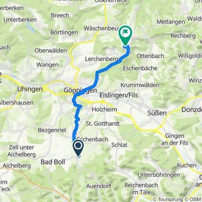 Route von Eugen-Rau-Straße 18, Gammelshausen