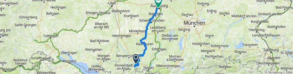 Wertach Radweg ab Oy