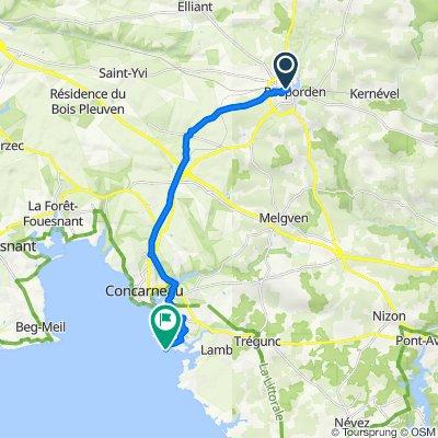 Itinéraire vers 1 Allée des Deux Plages, Concarneau