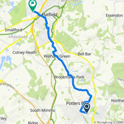 46 The Walk, Potters Bar to The Listed Hangar, Mosquito Way, Hatfield