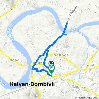 Santoshi Mata Road, Kalyan to Mohammad Ali Chowk - Chaya Talkies Road, Kalyan