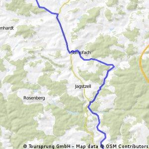 Onolzheim -über Rechenberg nach Ellwangen und zurück