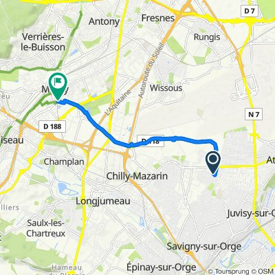 De 57 Avenue de Juvisy, Morangis à Voie de Briis, Massy