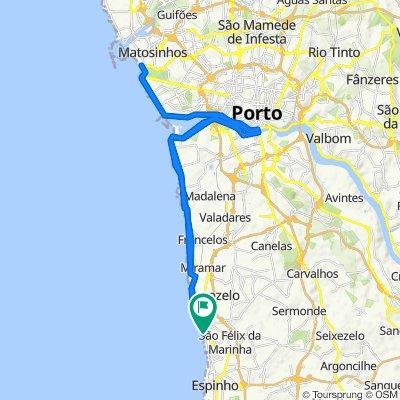 De Avenida República 2665, São Félix da Marinha a Avenida República 2665, São Félix da Marinha
