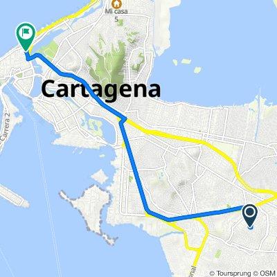 De Cartagena a Calle de la Serrezuela #39-21, Cartagena