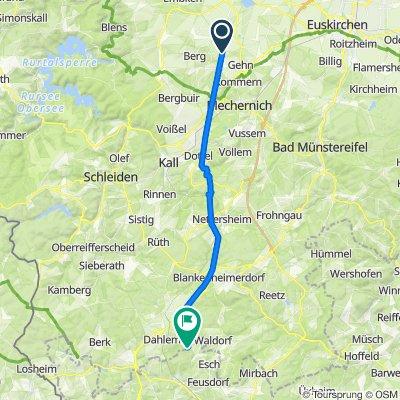 Eifel-Römerstraße von Floisdorf bis vor Esch
