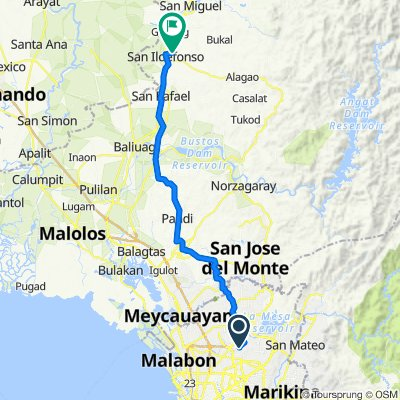 Crocus 3, Quezon City to Quijano Street, San Ildefonso