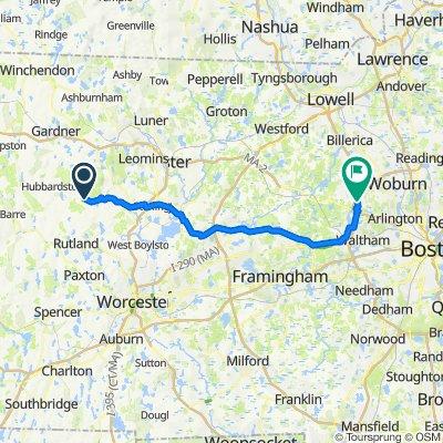 259–299 Hubbardston Rd, Princeton to 2526 Massachusetts Ave, Lexington