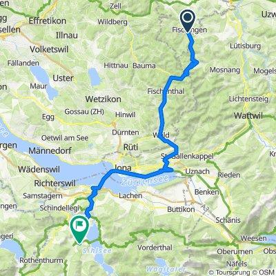 MEINRADWEG 5. Tagesetappe: Fischingen-Einsiedeln