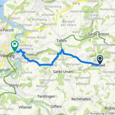 Panorama 2, Alterswil FR nach Route des Alpes 2–6, Freiburg