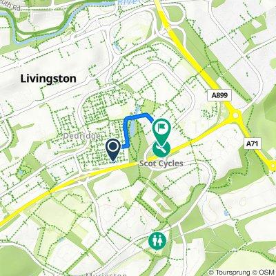 113 Norman Rise, Livingston to Dedridge East Industrial Estate, Abbotsford Rise, Livingston