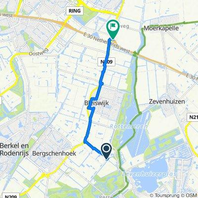 Anthony Lionweg 19–25, Bergschenhoek naar Kruisweg 3, Bleiswijk