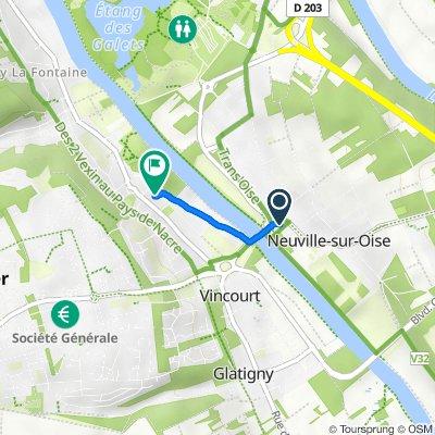 De 2–10 Rue du Pont, Neuville-sur-Oise à 20 Rue de la Fontaine Bénite, Jouy-le-Moutier