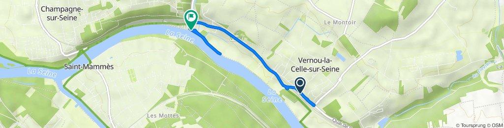 De 6 Route de Montereau, Vernou-la-Celle-sur-Seine à 5 Rue de la Plage, Vernou-la-Celle-sur-Seine