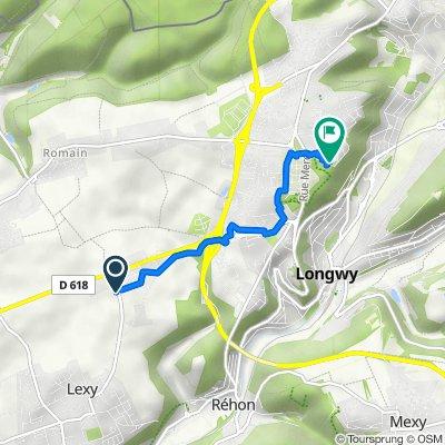 Trasa z Route de Longwy 78, Lexy