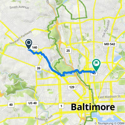 Dolfield Avenue 3900, Baltimore to East 27th Street 666, Baltimore