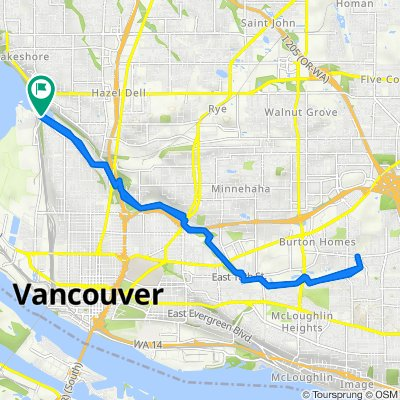 6933–6999 NW Fruit Valley Rd, Vancouver to 6700–6786 NW Bernie Dr, Vancouver
