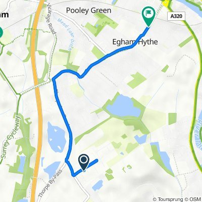 Egham Business Village, Crabtree Road, Egham to Marwood, Thorpe Road, Staines-Upon-Thames