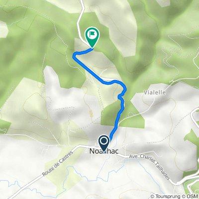 De 6 Place Paul Granaud, Noailhac à Route de Malacan, Noailhac