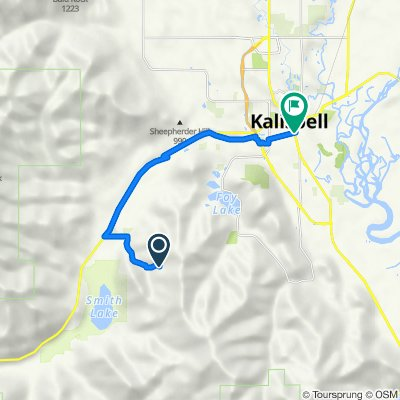 2100 Haywire Gulch, Kalispell to 149 Main St, Kalispell