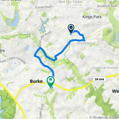 5601 Mt Burnside Way, Burke to 6512 Sydenstricker Rd, Burke