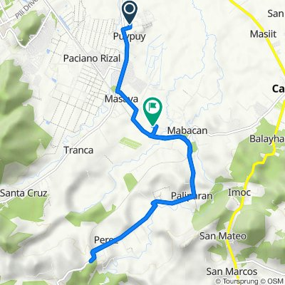 Route to Unnamed Road, Calauan