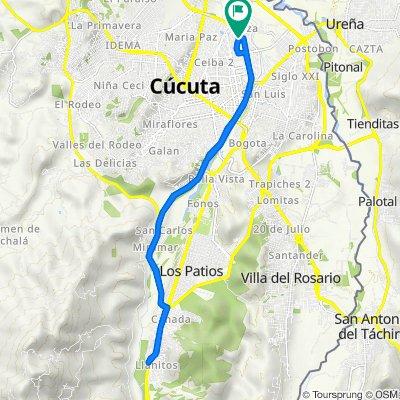 De Avenida 15E, Cúcuta a Avenida 14a 13AN-36, Cúcuta