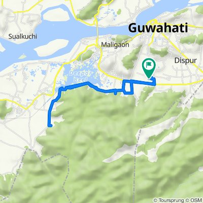 Unnamed Road, Guwahati to Unnamed Road, Guwahati