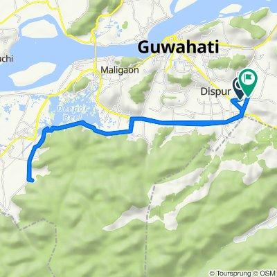 Panjabari Road, Guwahati to Homoeopathic College Road 85, Guwahati