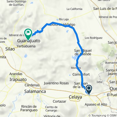 Apaseo el Grande a Guanajuato, GTO.