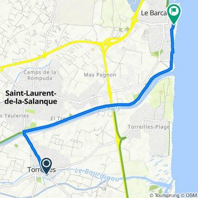 De 4 Rue Lamartine, Torreilles à 51–63 Boulevard du Golfe du Lion, Le Barcarès