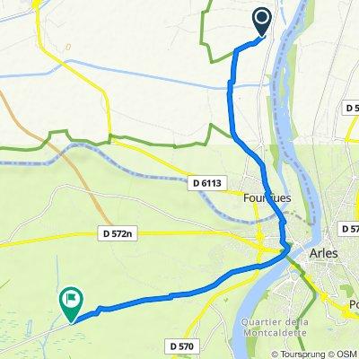 De 206 Chemin de Saujan, Beaucaire à 3384 Chemin de Palun Longue, Arles