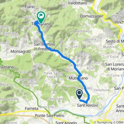 Via del Caporale 719/A, Lucca nach Via della Chiesa 7, Torcigliano