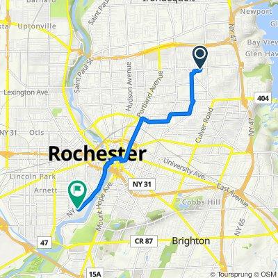 2141 Norton St, Rochester to 1 Mt Pleasant Park, Rochester