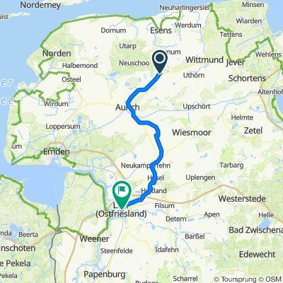 Ostfriesland Wanderweg.. middels leer