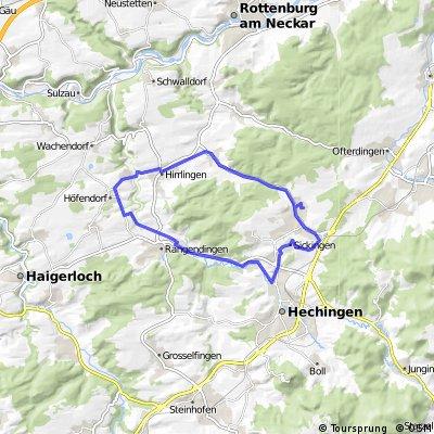 kleine Hausrunde + (Bodelshausen, Hemmendorf, Höfendorf, Rangendingen, Hechingen, Sickingen, Bodelshausen)