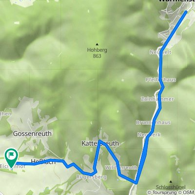 Eichenhof 1–5, Weidenberg nach Eichenhof 1–5, Weidenberg