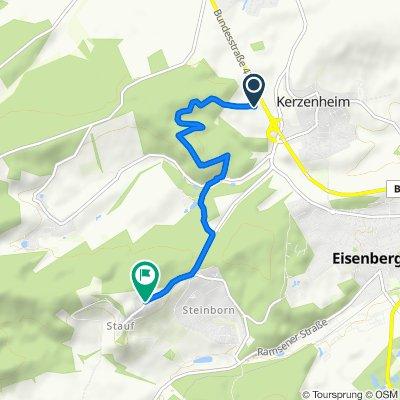 Route nach Ebertsteinstraße 21–25, Eisenberg (Pfalz)